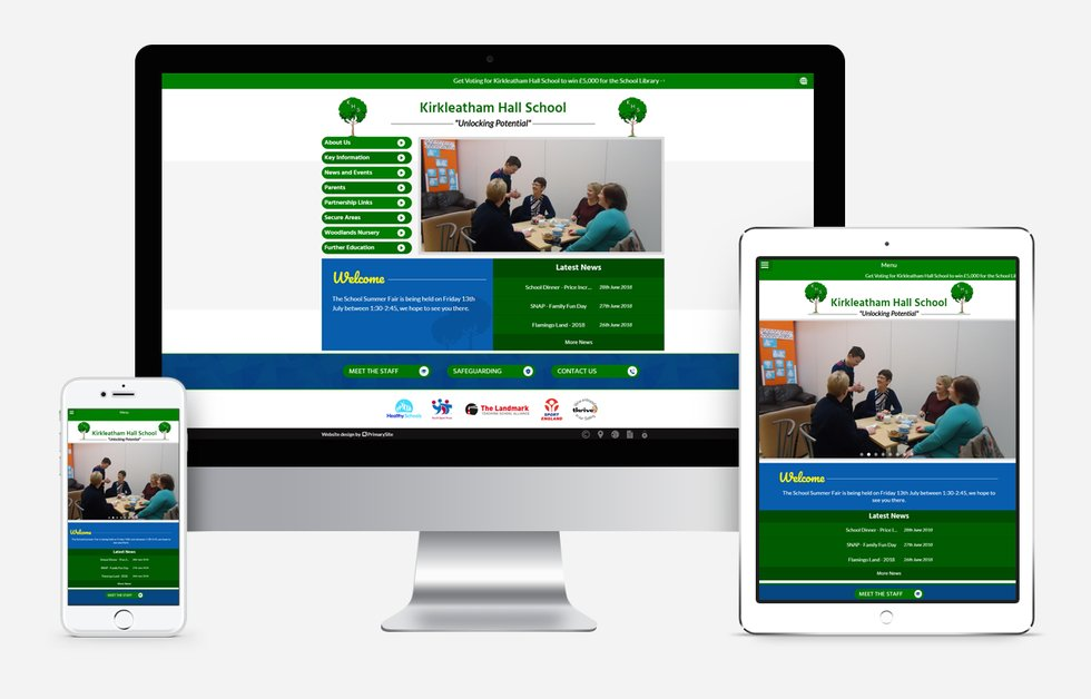 Kirkleatham Hall School website design