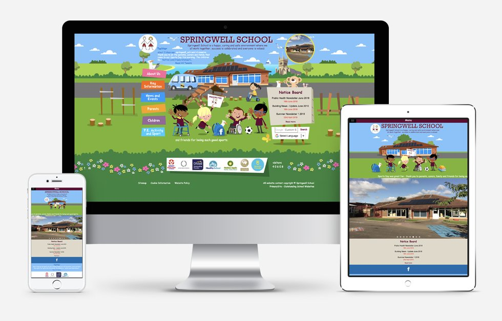 Springwell School website design