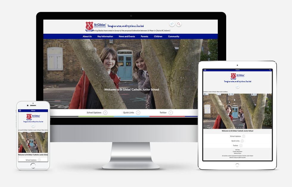St Gildas school website design