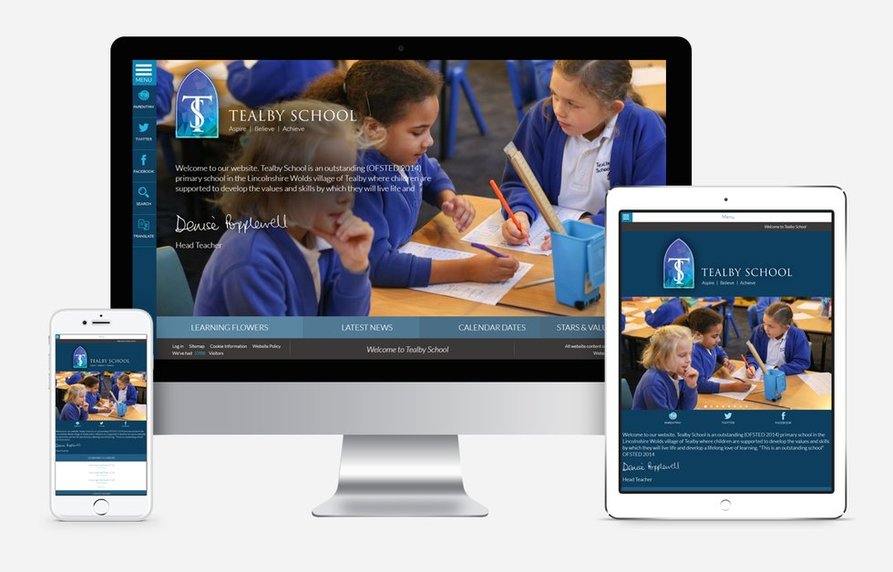 Tealby school website design