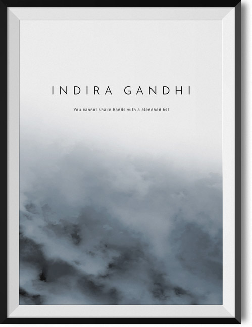 "Indira Gandhi ""Fist"" quote poster"