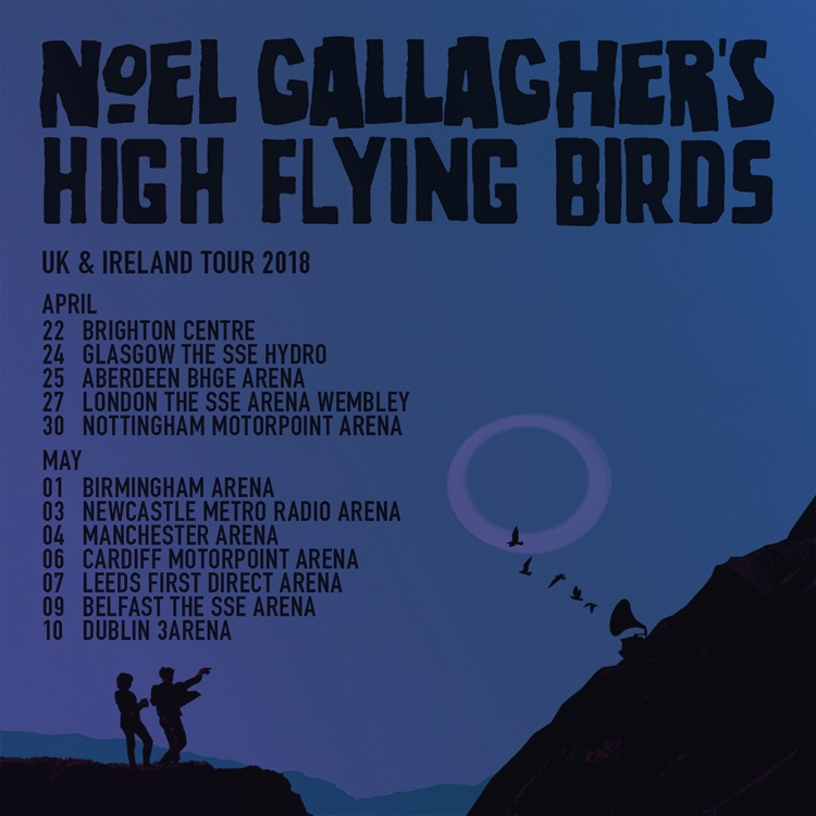 noel gallagher 2018 uk tour Noel Gallagher's High Flying Birds   Noel Gallagher   The SSE  noel gallagher 2018 uk tour