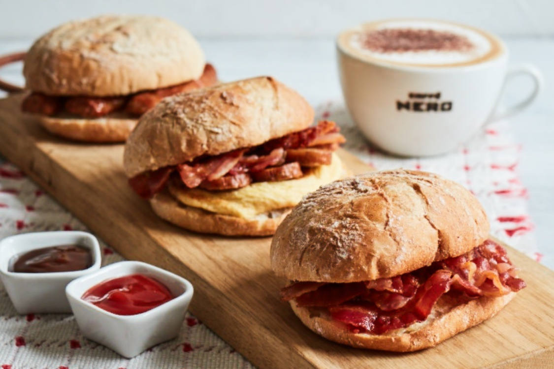 Enjoy a coffee on the house with the new Breakfast Ciabatta