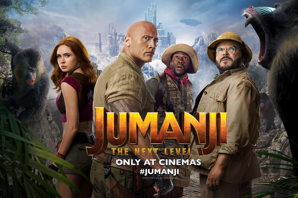 Win two tickets to the Premiere of JUMANJI: THE NEXT LEVEL - Priority