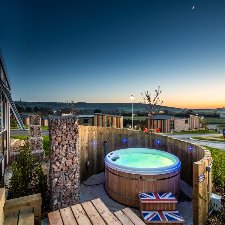 Photograph: Hot tub in a holiday camp site