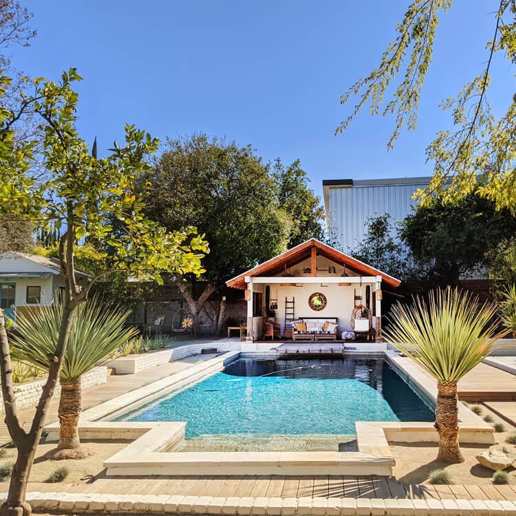 Photograph: Holiday home in the sun with a swimming pool