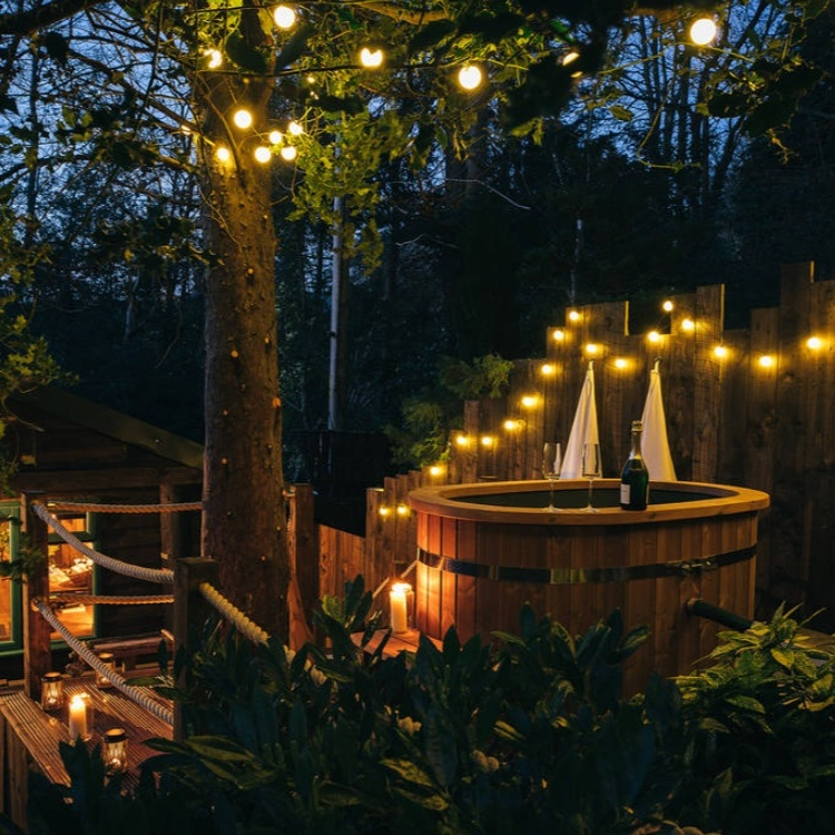 Photograph: Treehouse cabin