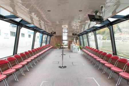 Les Bateaux Lyonnais : le Navilys, Salle de location Lyon Tête d'Or #0