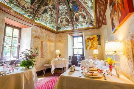 Hotel Restaurant Chateau De La Caze, Salle de location Sainte-Énimie  #0
