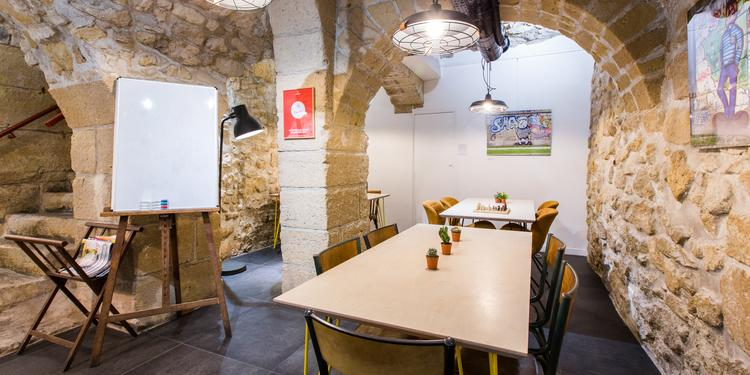 Anticafé Beaubourg - La salle voutée, Salle de location Paris Beaubourg #0