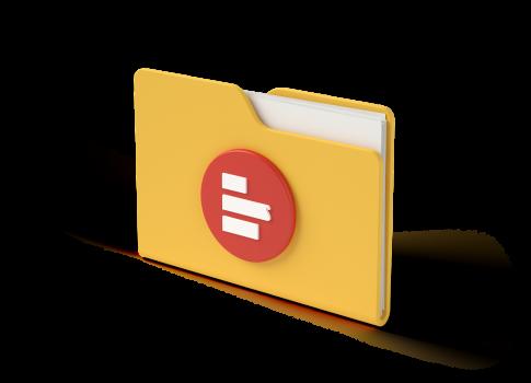 3D folder with Supermetrics icon