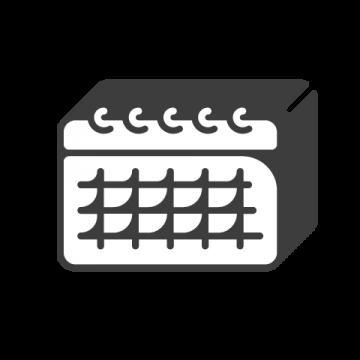 Supermetrics calendar icon white