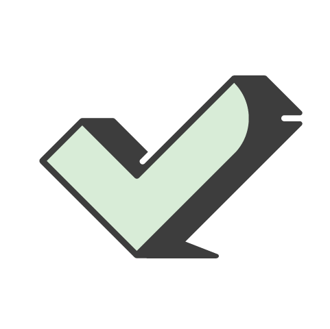 Supermetrics check mark icon green