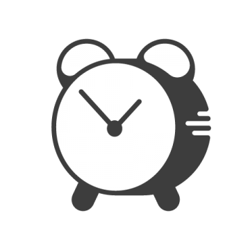 Supermetrics clock icon white