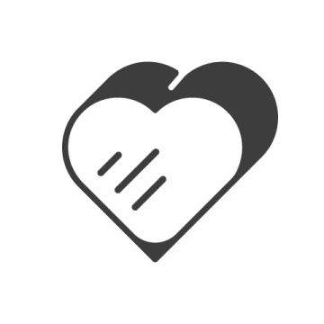 Supermetrics heart icon white