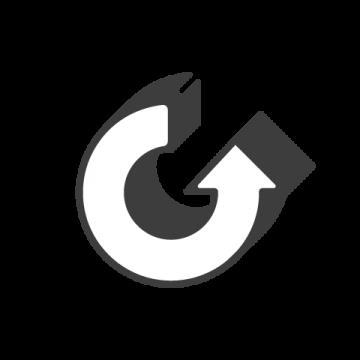 Supermetrics refresh arrow icon white