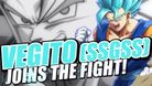Vegito dyed his hair blue so he is supposedly stronger now
