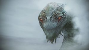 God of War screenshot showing Jormungandr