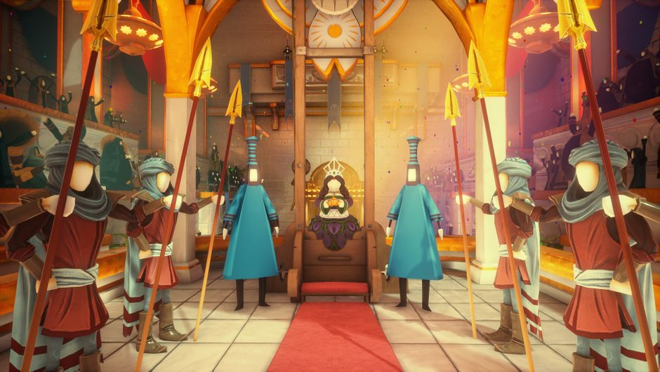 What Remains of Edith Finch - screenshot of a royal court