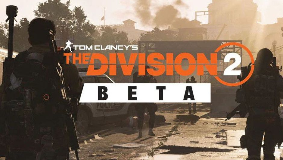 Screenshot from The Division 2 announcing the game's beta