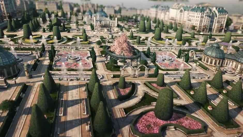 Anno 1800's modular gardens from Botanica DLC
