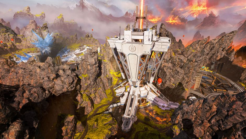 A huge drilling structure in Apex Legends