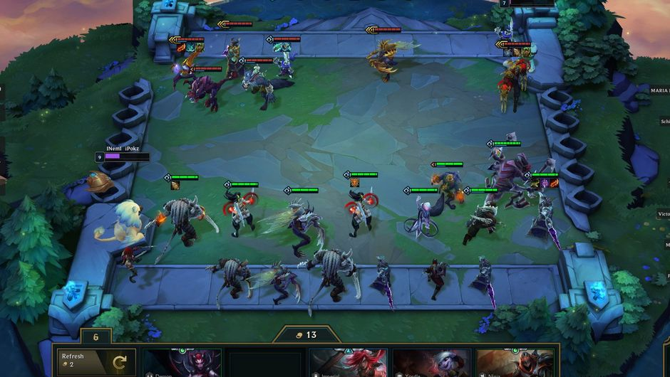 Picture of a match in Teamfight Tactics