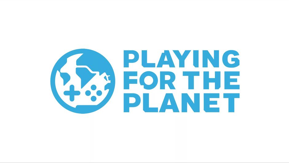 artwork showing playing for the planet logo