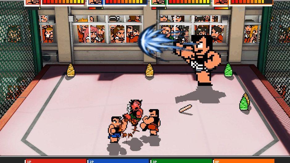 Picture of a match in Downtown Rantou Koushinkyoku Mach