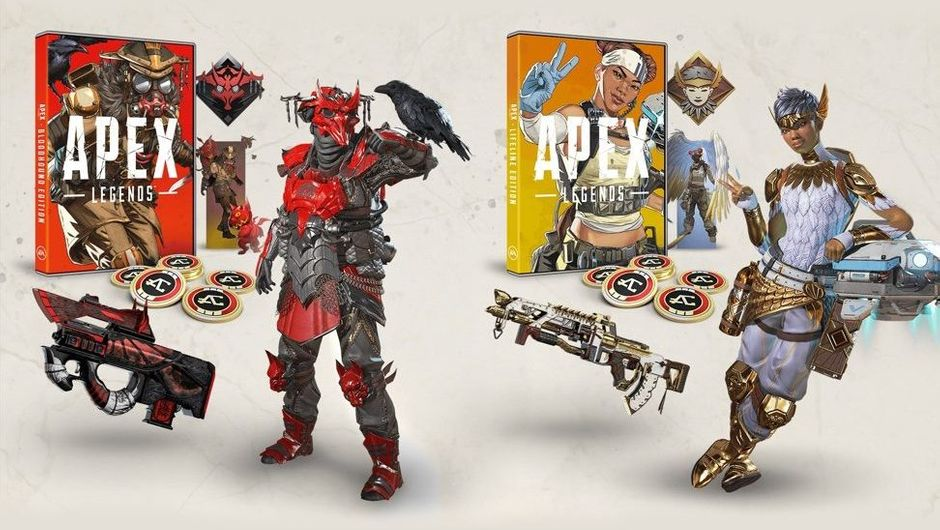 Apex Legends artwork showing physical editions