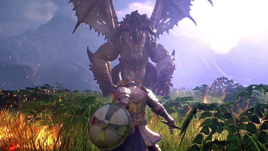 Picture of a player about to fight a dragon in Bless Unleashed
