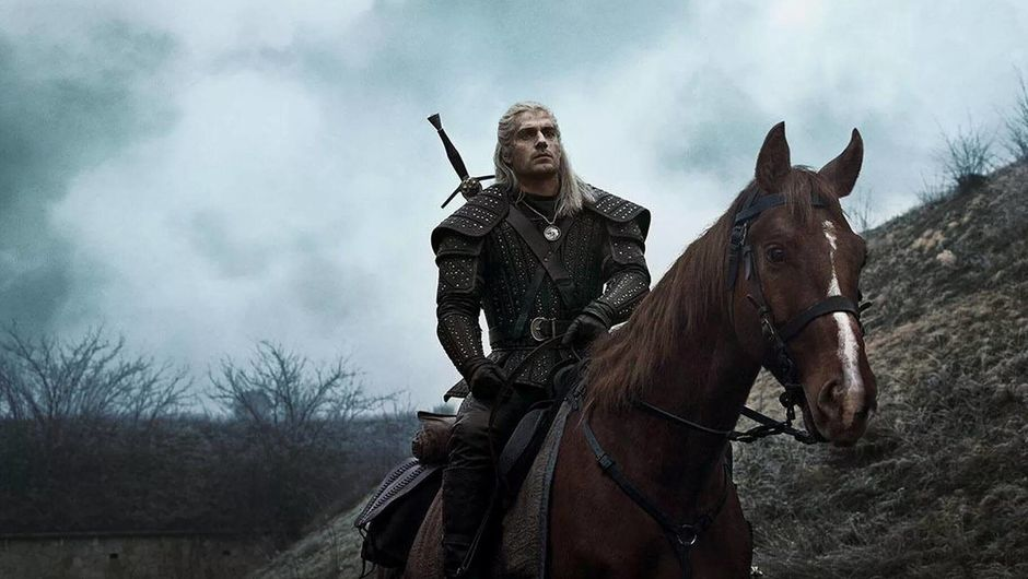 Netflix's The Witcher shot showing geralt and roach