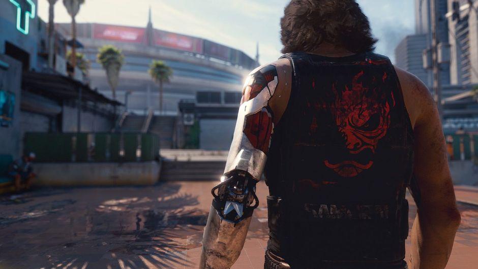 Cyberpunk 2077 screenshot showing johnny silverhand