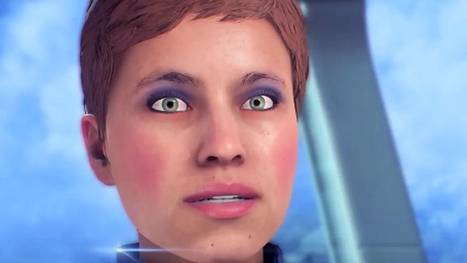 My face is tired shot form Mass Effect: Andromeda