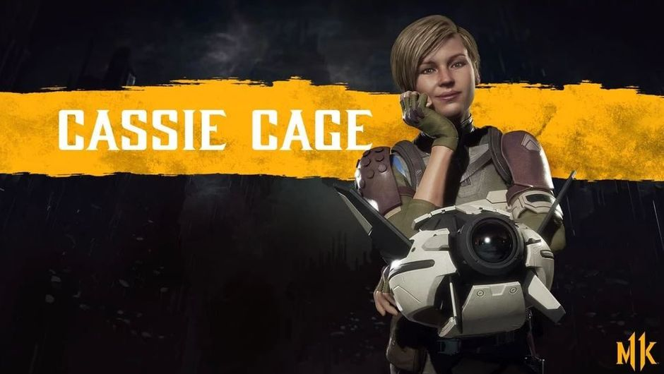 Cassie Cage is posing with her drone for MK 11
