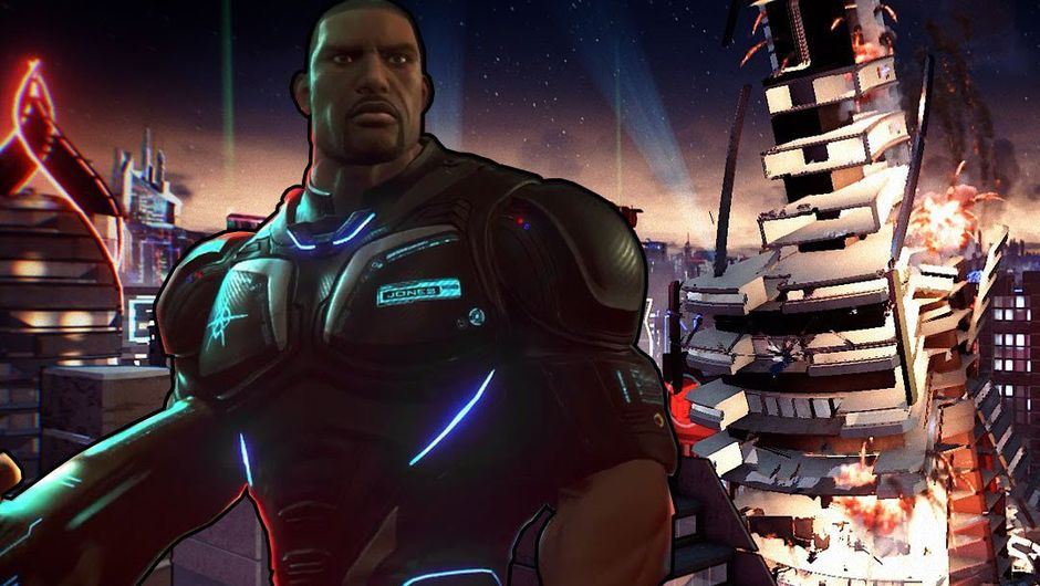 Crackdown 3's protagonist is looking at an undisclosed location off the camera