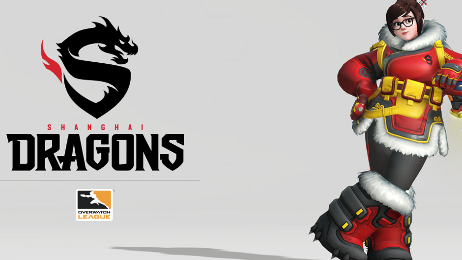 Overwatch League Shanghai Dragons logo and Mei
