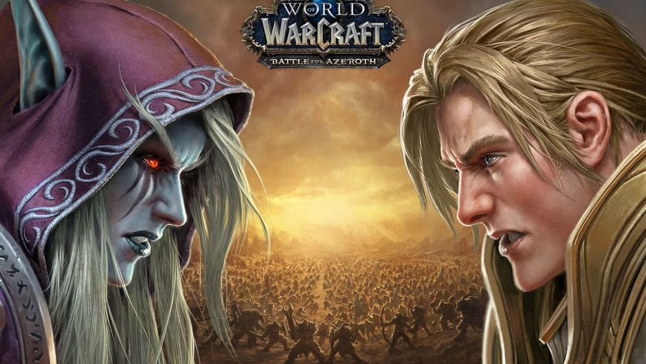 Sylvanas Windrunner and Anduin Wrynn are looking angrily at each other.