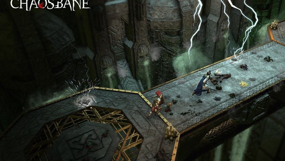 Screenshot from Warhammer: Chaosbane on some bridge
