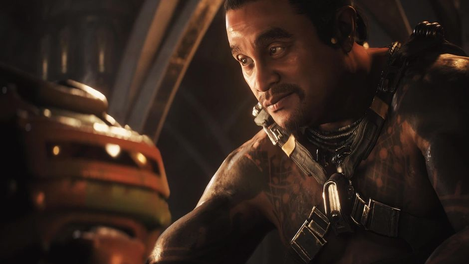 One of the non-playing characters from Anthem