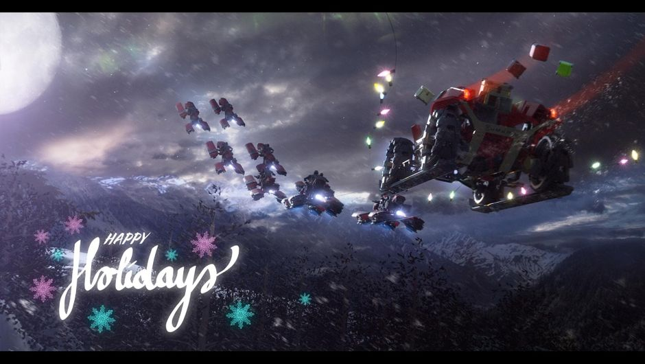 RSI - Squadron 42 Happy Holidays Greeting Image