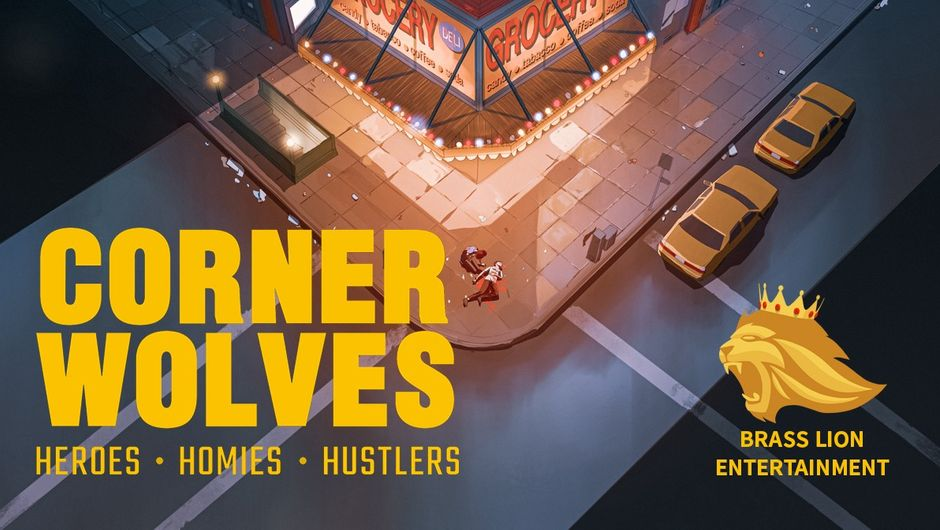 Cartoony depiction of Harlem from the game Corner Wolves