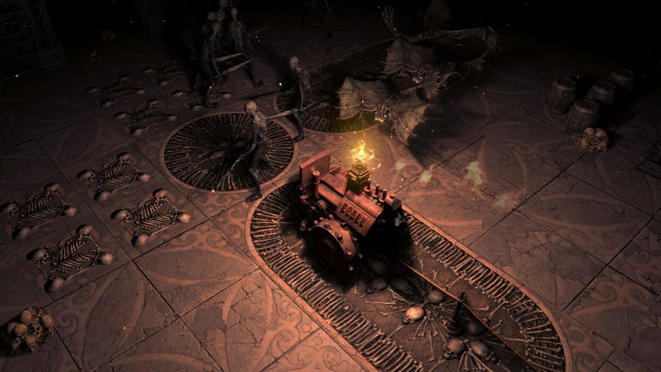 Screenshot of the Crawler in Path of Exile: Delve's Azurite Mine Dungeon