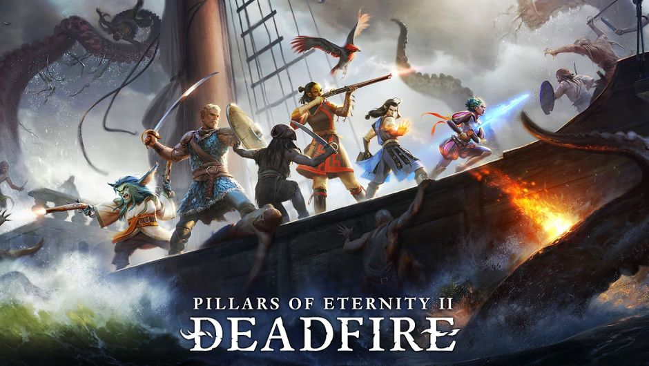 Promotional image for Pillars of Eternity 2: Deadfire showing some adventurers.