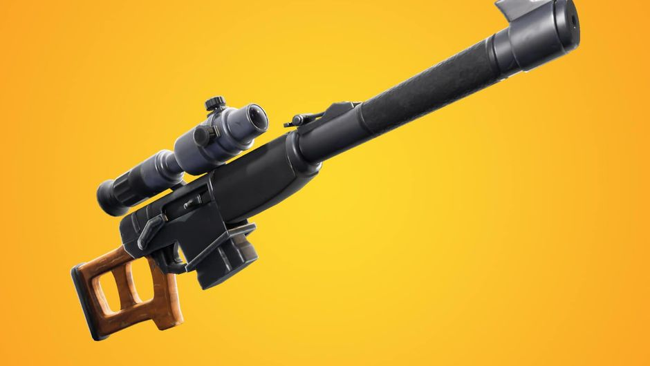 Fortnite's new weapon - automatic sniper rifle