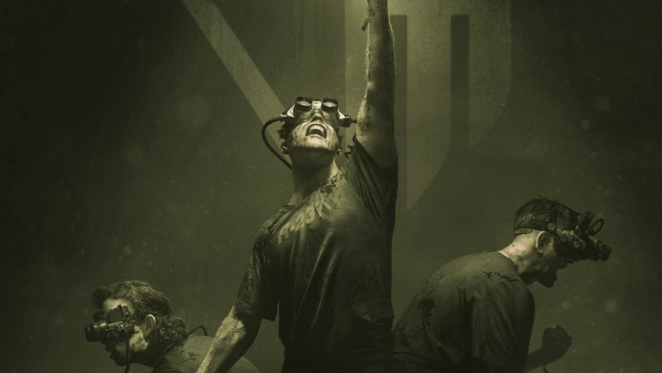 the outlast trials screenshot showing three characters