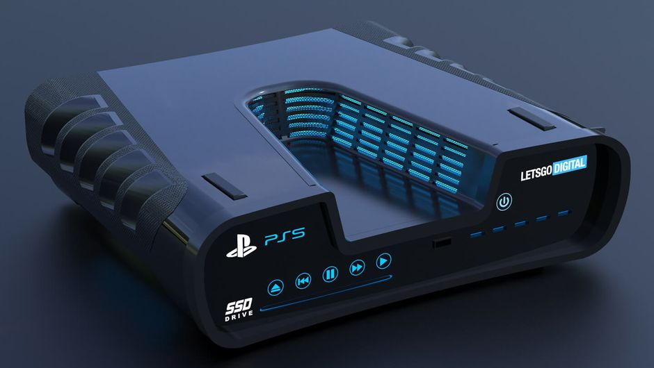 artwork showing a render of rumored PlayStation 5