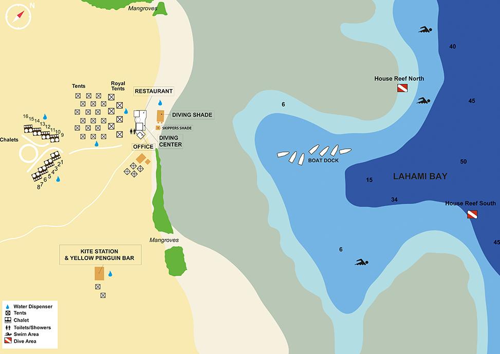 Marsa Shagra Dive Map