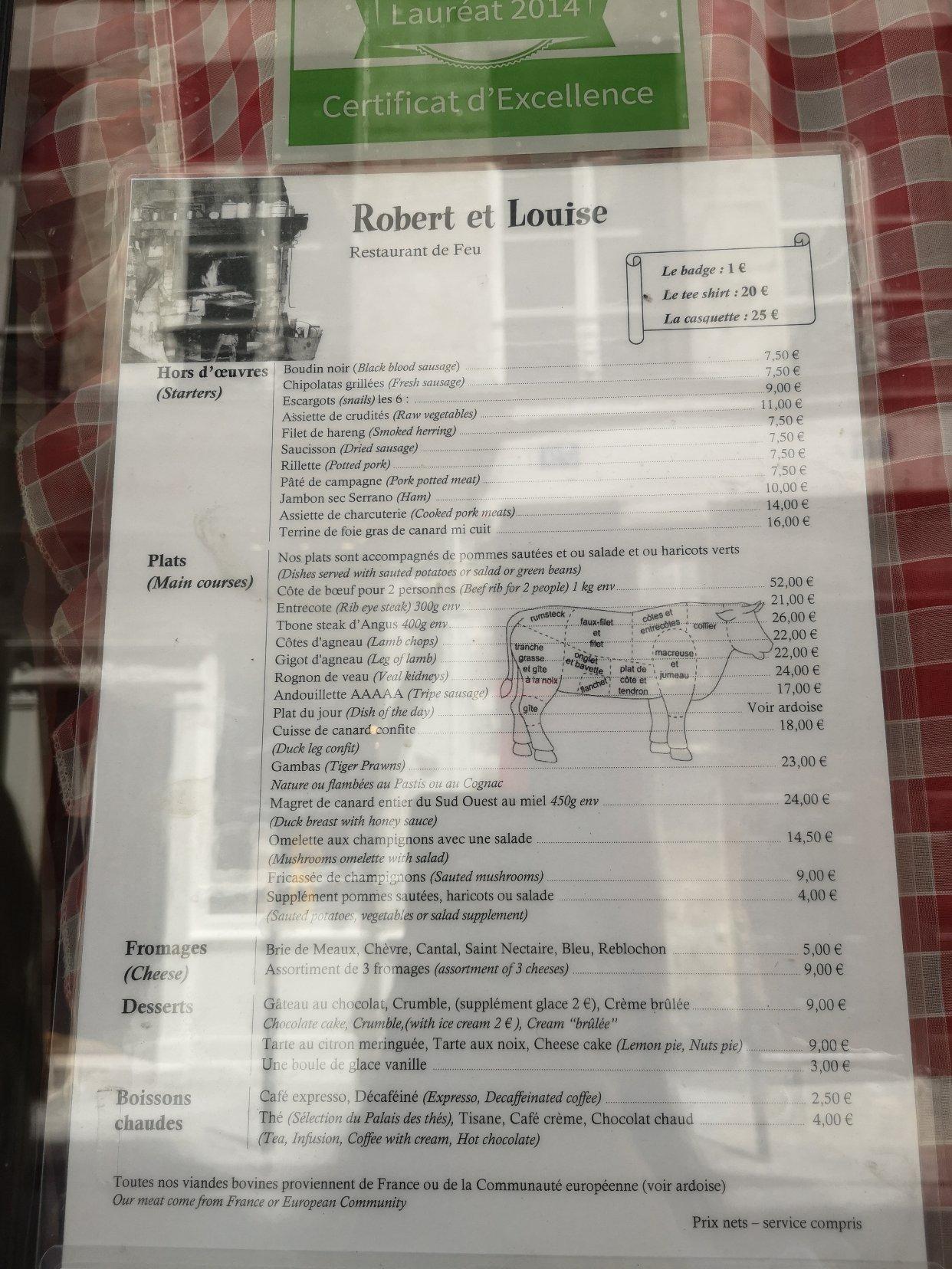 巴黎探店 巴黎最好吃的碳烤牛排餐厅