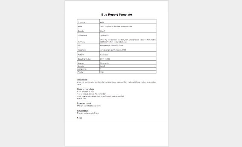 9 bug report template examples software testing workflows